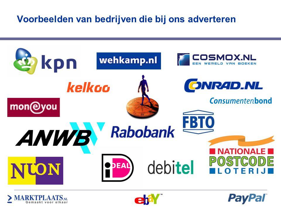 Voorbeelden van bedrijven die bij ons adverteren