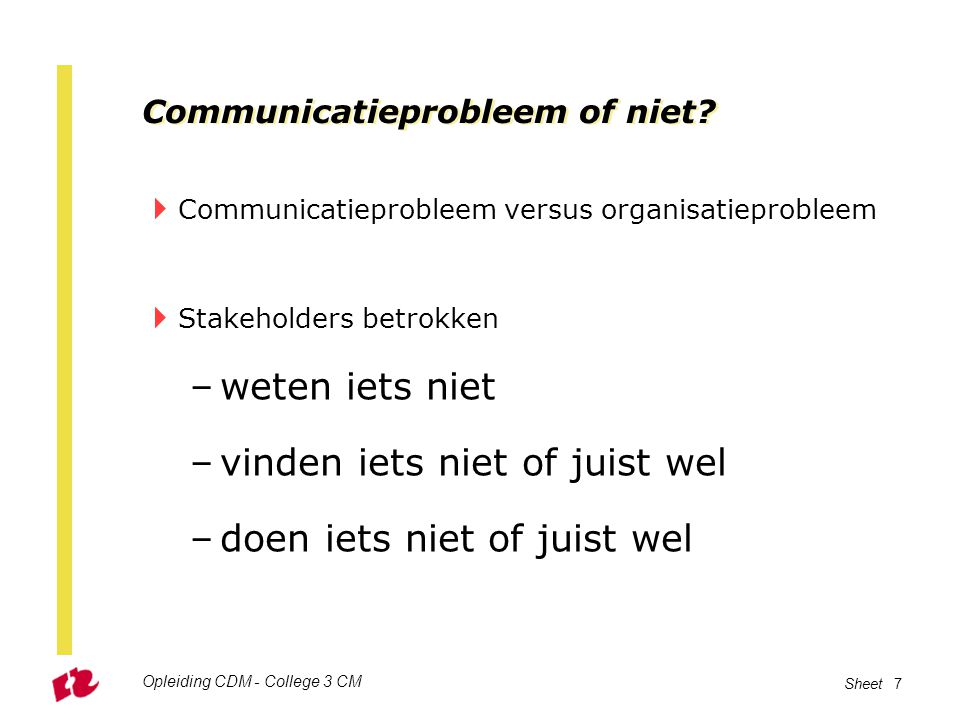 Communicatieprobleem of niet.