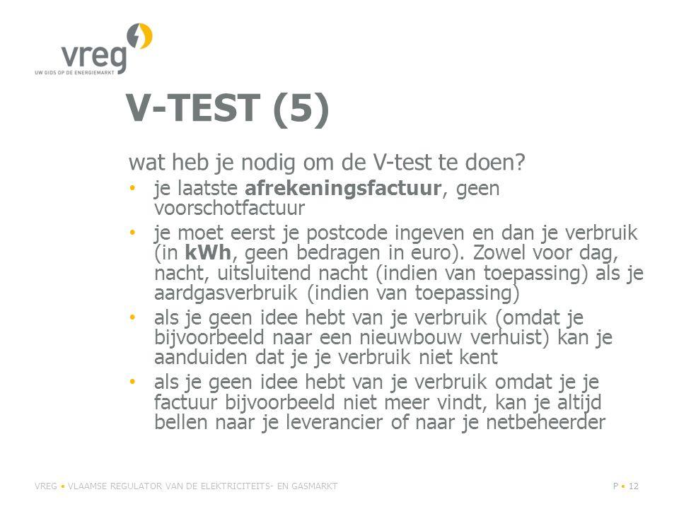 V-TEST (5) wat heb je nodig om de V-test te doen.