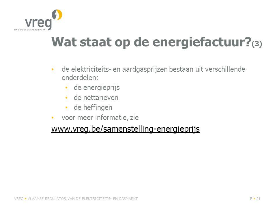 Wat staat op de energiefactuur.