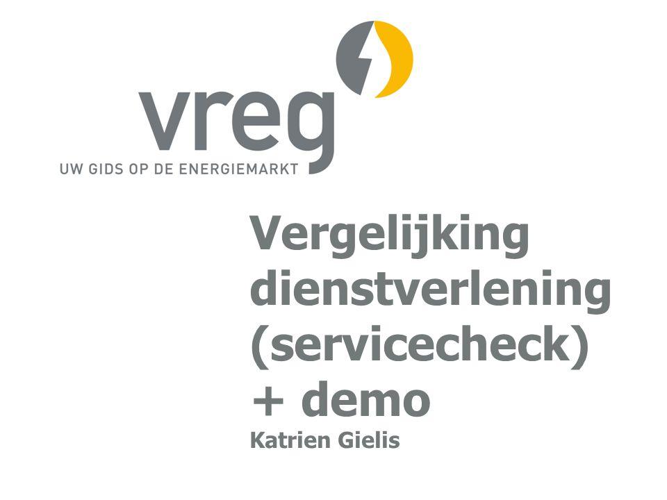 Vergelijking dienstverlening (servicecheck) + demo Katrien Gielis