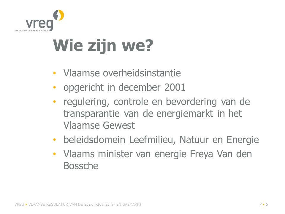 Andere wetgeving • federale wet van 25/8/2012 mbt diverse bepalingen rond energie – afschaffing verbrekingsvergoeding: sinds 13 september 2012 kunnen gezinnen en KMO s (jaarverbruik t/m 50 MWh E en 100 MWh G) gratis van leverancier veranderen • momenteel herwerking consumenten- akkoord 'De consument in de vrijgemaakte energiemarkt' VREG • VLAAMSE REGULATOR VAN DE ELEKTRICITEITS- EN GASMARKTP • 66