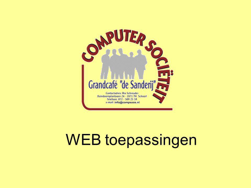 WEB toepassingen