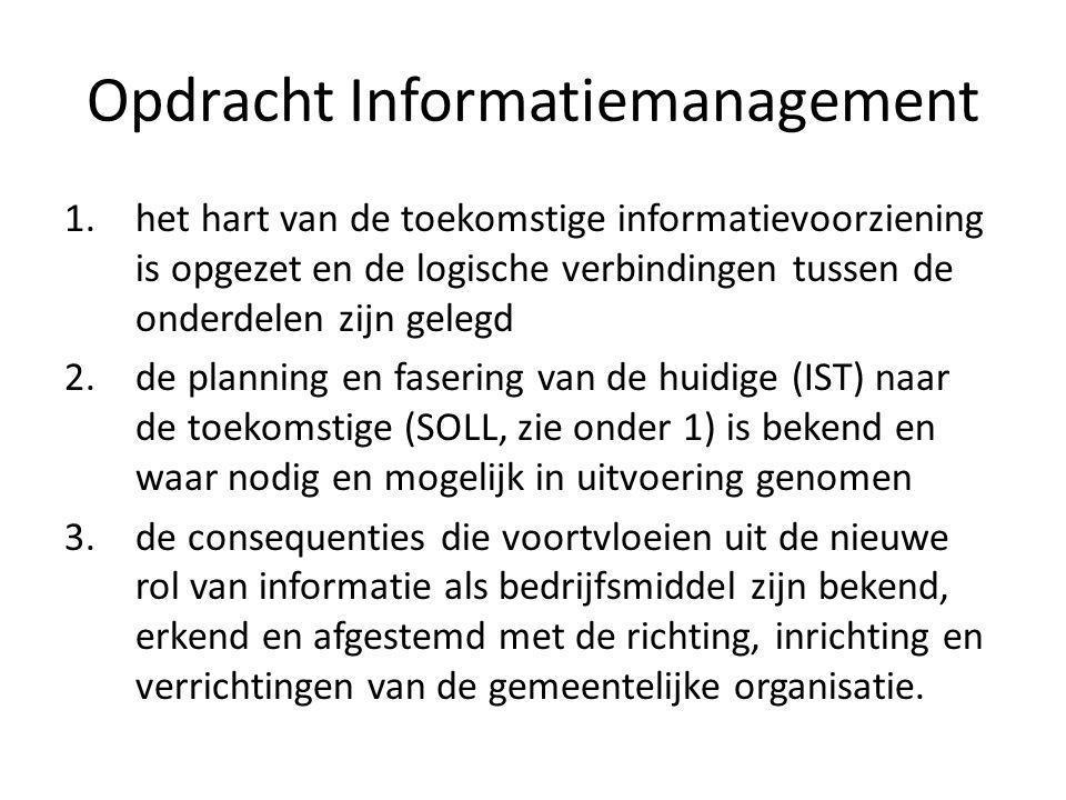 Opdracht Informatiemanagement 1.het hart van de toekomstige informatievoorziening is opgezet en de logische verbindingen tussen de onderdelen zijn gel