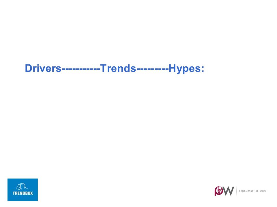 Drivers-----------Trends---------Hypes: