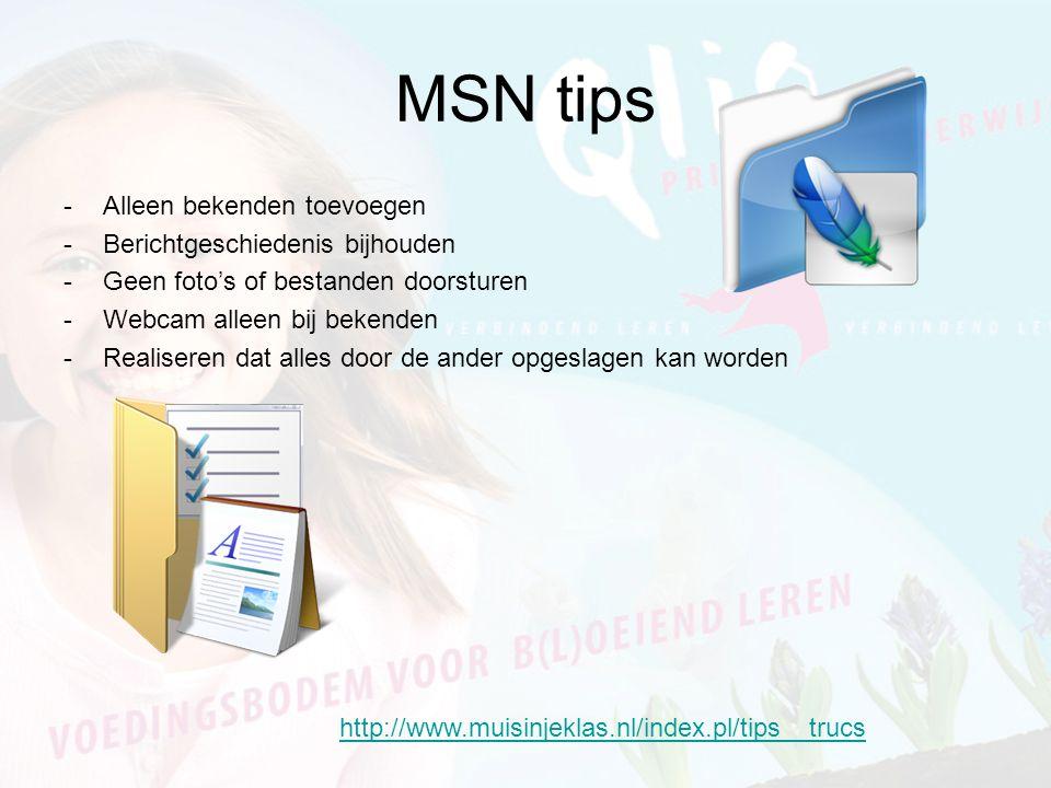 Pesten op de MSN