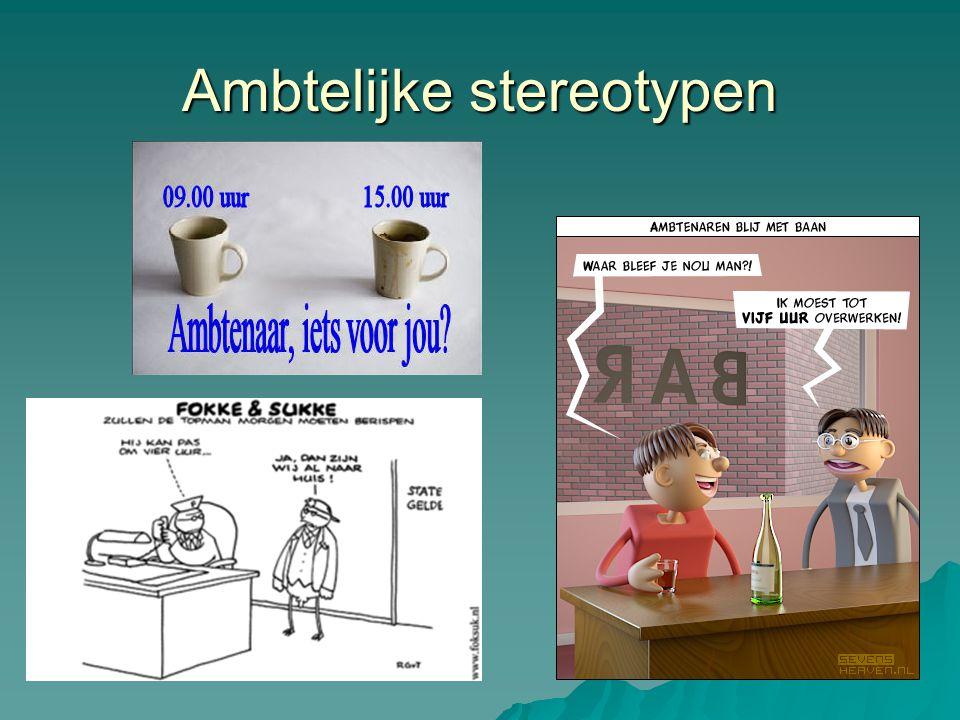 Ambtelijke stereotypen