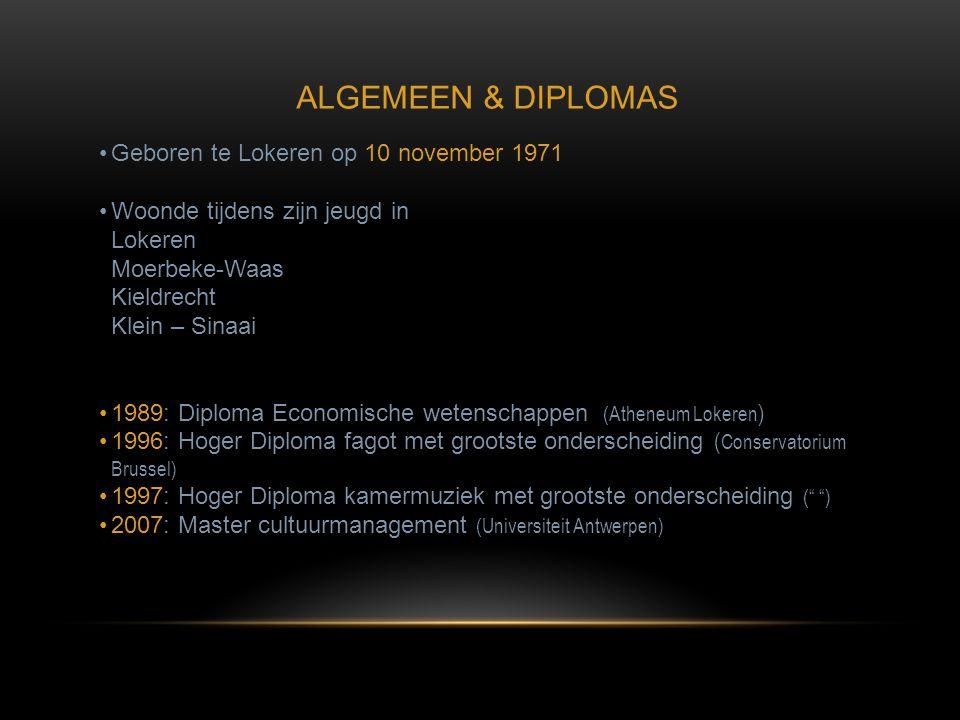 •Geboren te Lokeren op 10 november 1971 •Woonde tijdens zijn jeugd in Lokeren Moerbeke-Waas Kieldrecht Klein – Sinaai •1989: Diploma Economische weten