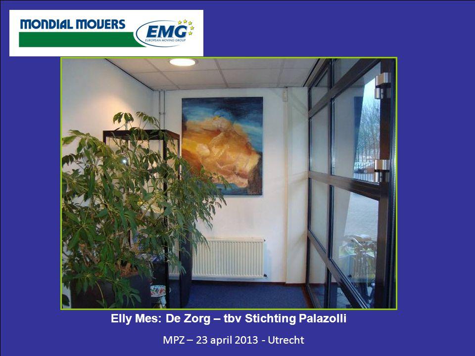 MPZ – 23 april 2013 - Utrecht Elly Mes: De Zorg – tbv Stichting Palazolli