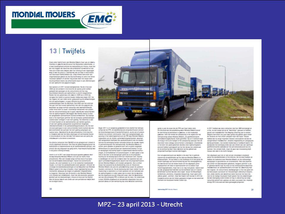 MPZ – 23 april 2013 - Utrecht
