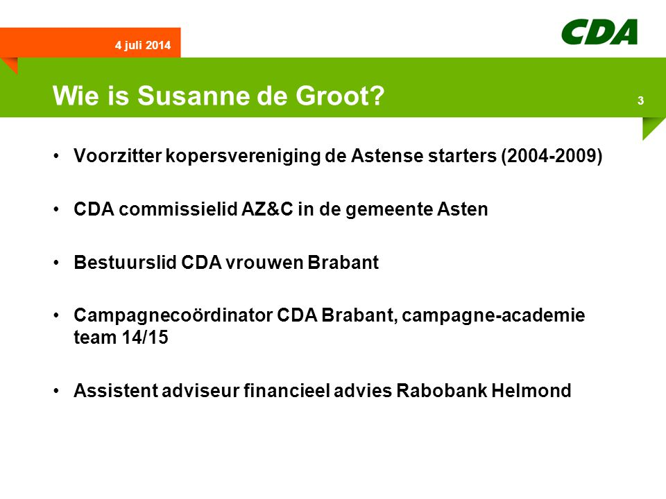 Wie is Susanne de Groot.