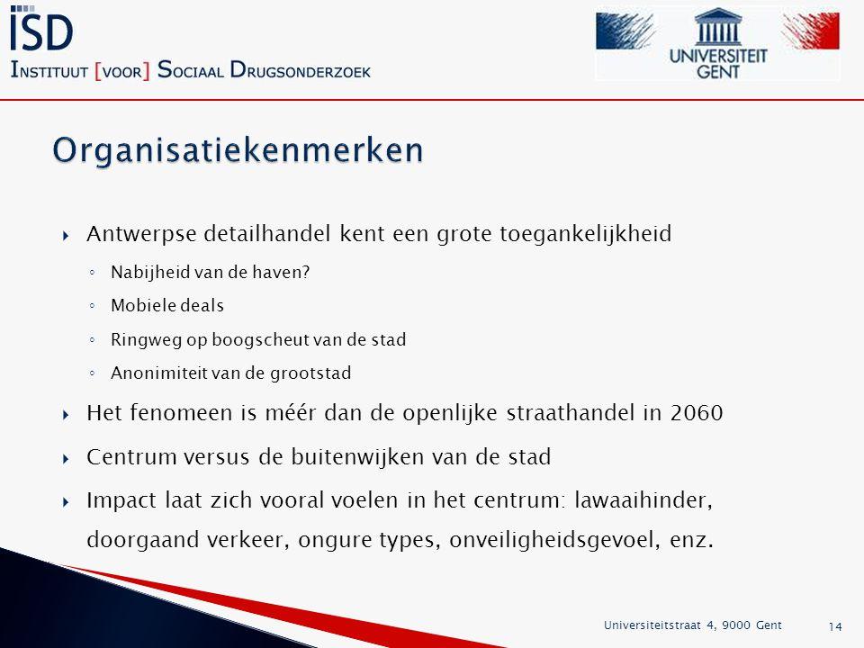  Antwerpse detailhandel kent een grote toegankelijkheid ◦ Nabijheid van de haven.