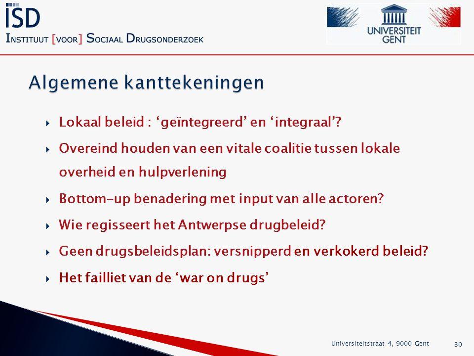  Lokaal beleid : 'geïntegreerd' en 'integraal'.