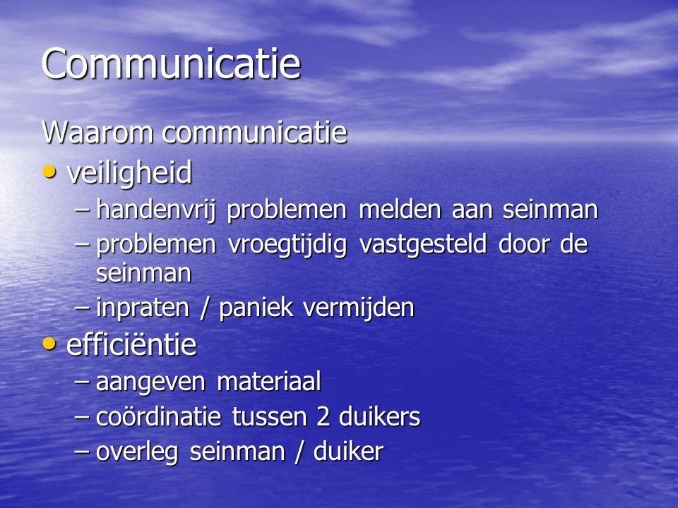 Communicatie Waarom communicatie • veiligheid –handenvrij problemen melden aan seinman –problemen vroegtijdig vastgesteld door de seinman –inpraten /