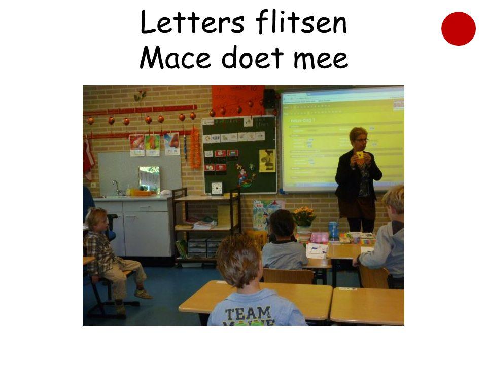 Letters flitsen Mace doet mee