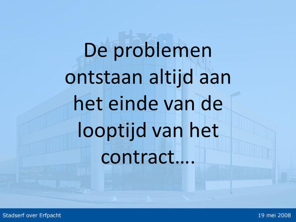 De problemen ontstaan altijd aan het einde van de looptijd van het contract….