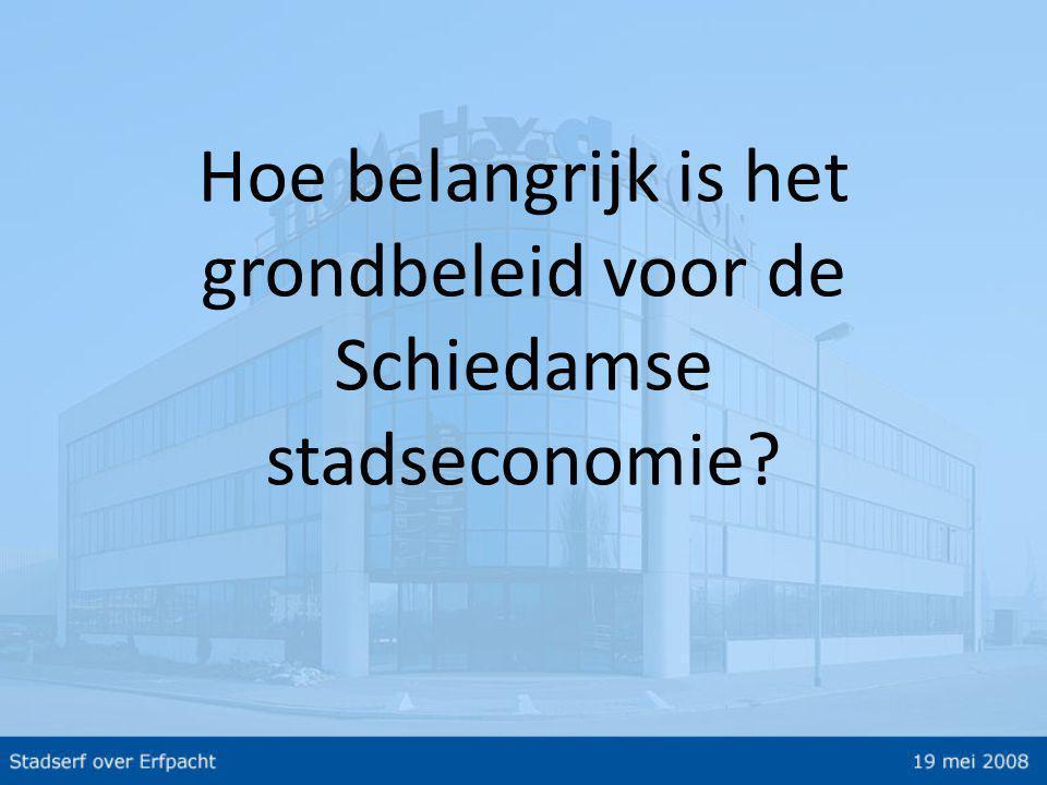 Hoe belangrijk is het grondbeleid voor de Schiedamse stadseconomie