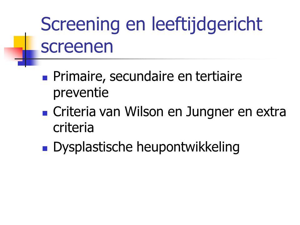 DDH – luxatie: behandeling  < 6 maand: Pavlik  > 6 maand : tractie, gesloten of open reductie (narcose), cast  >12 maand: botchirurgie