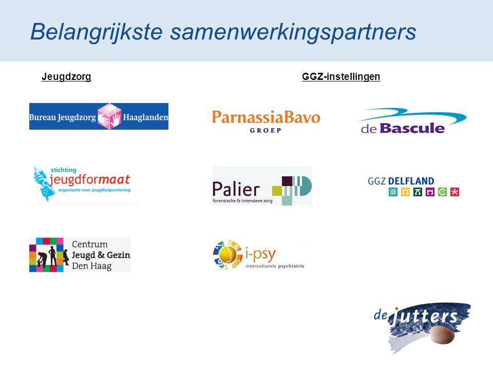 Belangrijkste samenwerkingspartners JeugdzorgGGZ-instellingen