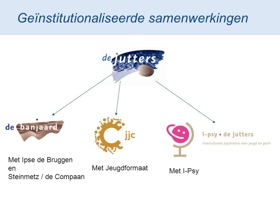 Geïnstitutionaliseerde samenwerkingen Met Ipse de Bruggen en Steinmetz / de Compaan Met Jeugdformaat Met I-Psy