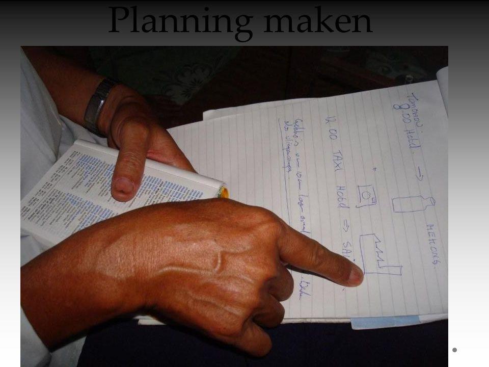 Planning maken