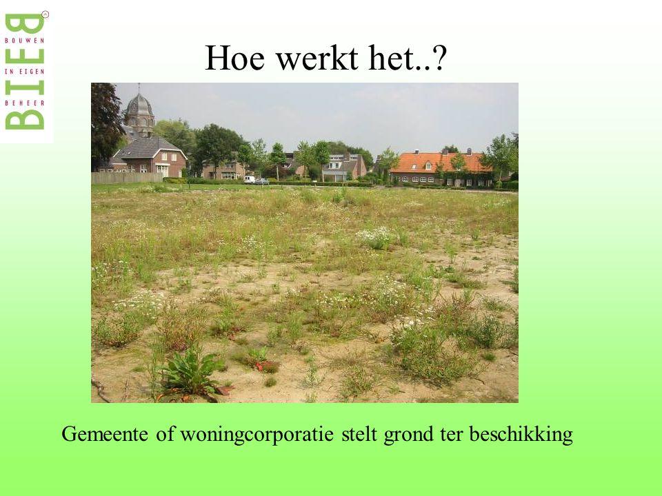 Hoe werkt het..? Gemeente of woningcorporatie stelt grond ter beschikking