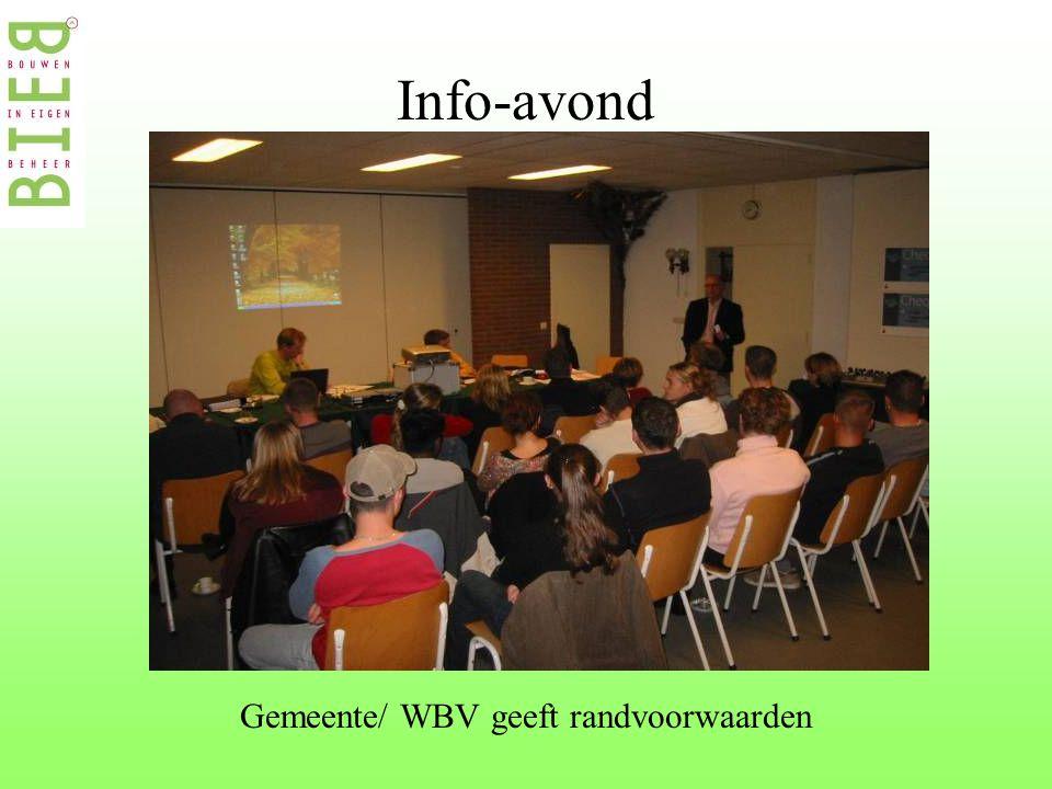 Info-avond Gemeente/ WBV geeft randvoorwaarden