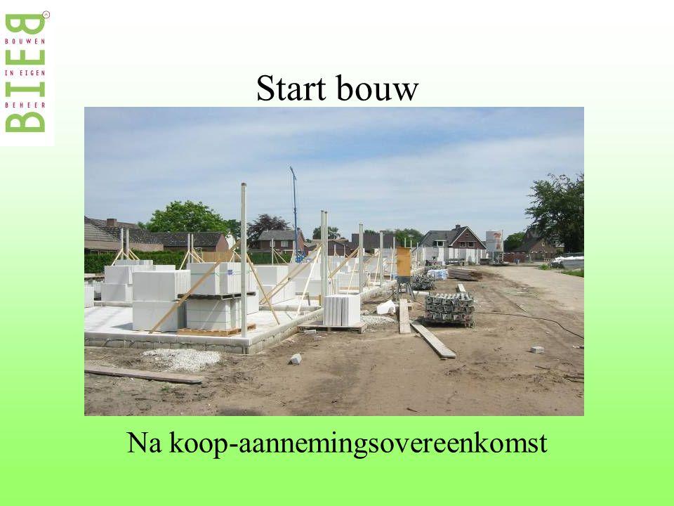 Start bouw Na koop-aannemingsovereenkomst