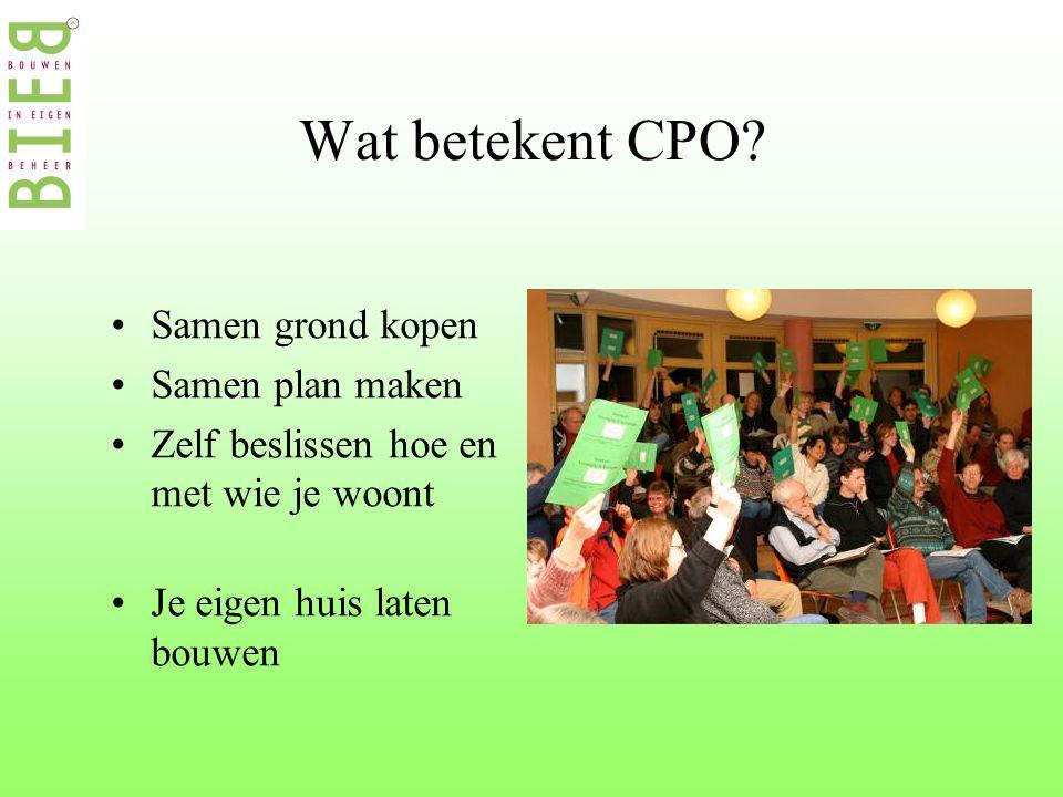 Wat betekent CPO.