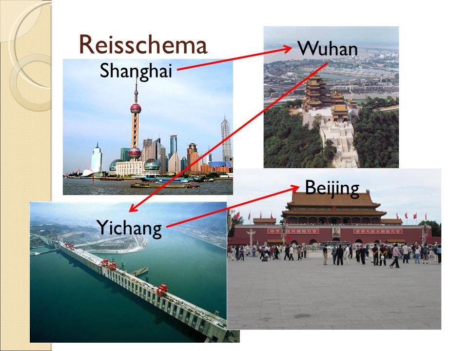 Reisschema Shanghai Wuhan Yichang Beijing