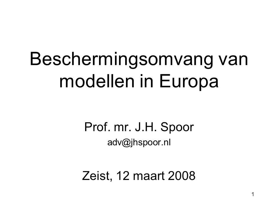 1 Beschermingsomvang van modellen in Europa Prof. mr.