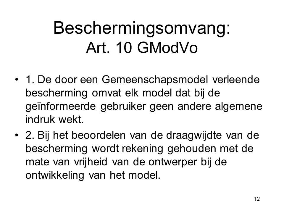 12 Beschermingsomvang: Art. 10 GModVo •1.