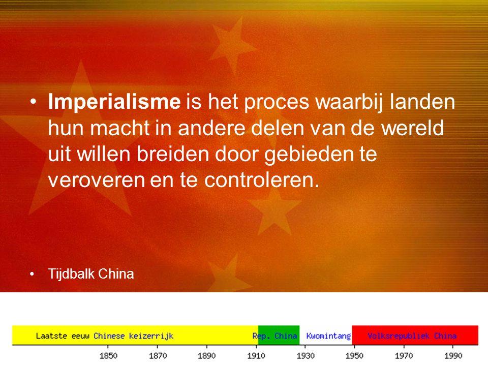 27 •Imperialisme is het proces waarbij landen hun macht in andere delen van de wereld uit willen breiden door gebieden te veroveren en te controleren.