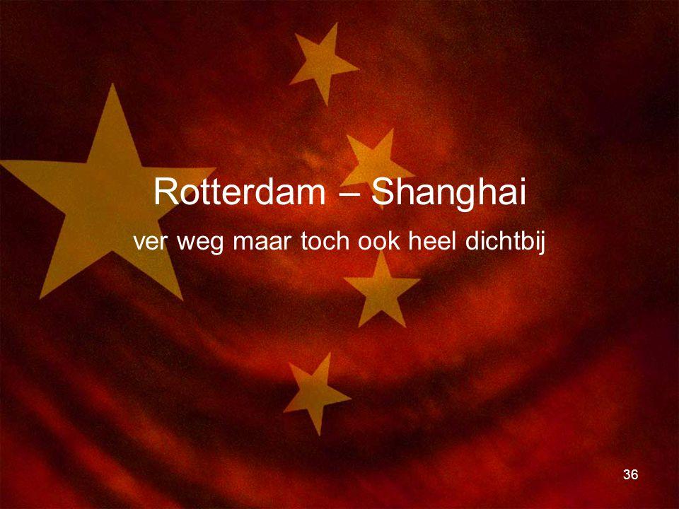 36 Rotterdam – Shanghai ver weg maar toch ook heel dichtbij