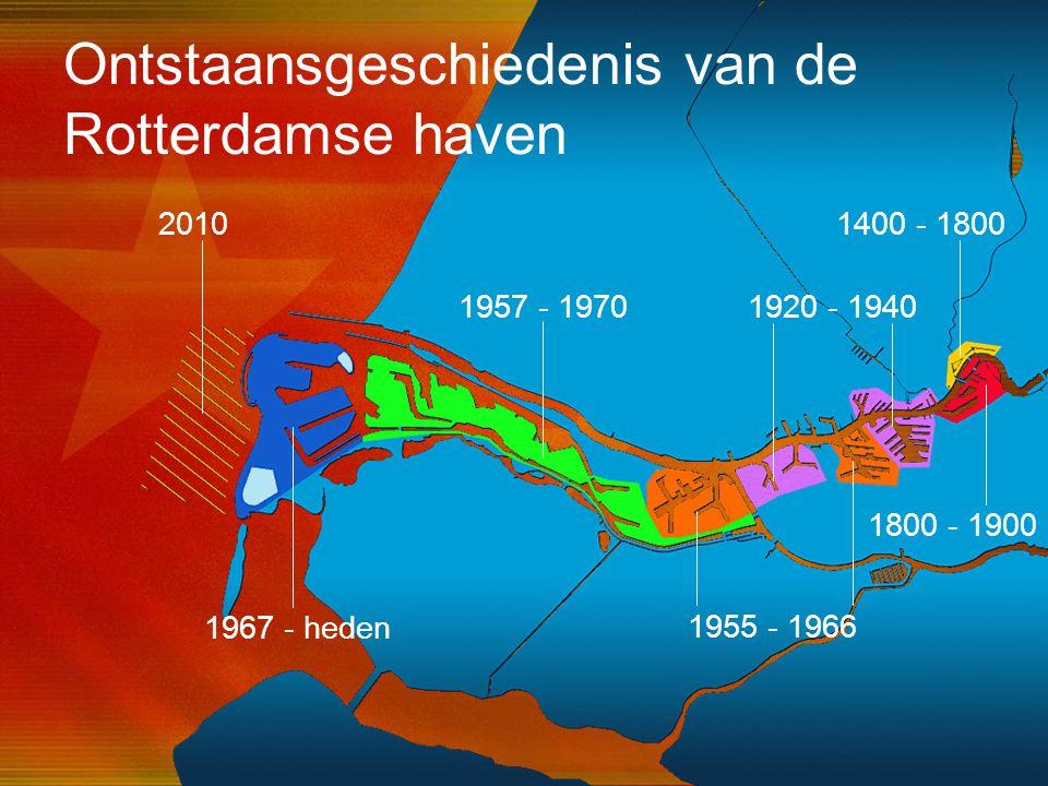 41 1400 - 1800 1800 - 1900 1955 - 1966 1957 - 1970 1967 - heden 1920 - 1940 2010 Ontstaansgeschiedenis van de Rotterdamse haven