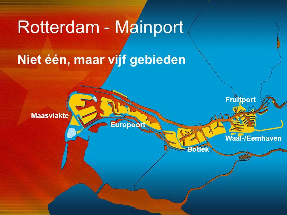 42 Rotterdam - Mainport Niet één, maar vijf gebieden Waal-/Eemhaven Fruitport Botlek Europoort Maasvlakte