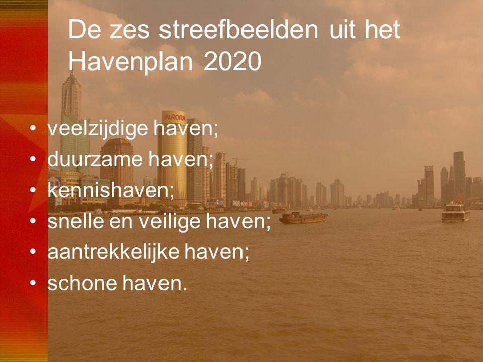 46 De zes streefbeelden uit het Havenplan 2020 •veelzijdige haven; •duurzame haven; •kennishaven; •snelle en veilige haven; •aantrekkelijke haven; •sc