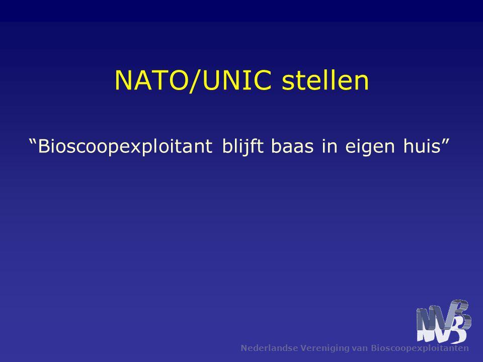 Nederlandse Vereniging van Bioscoopexploitanten NATO/UNIC stellen Bioscoopexploitant blijft baas in eigen huis