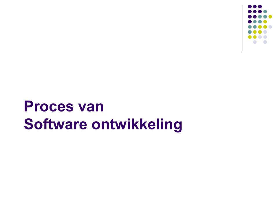 Proces van Software ontwikkeling