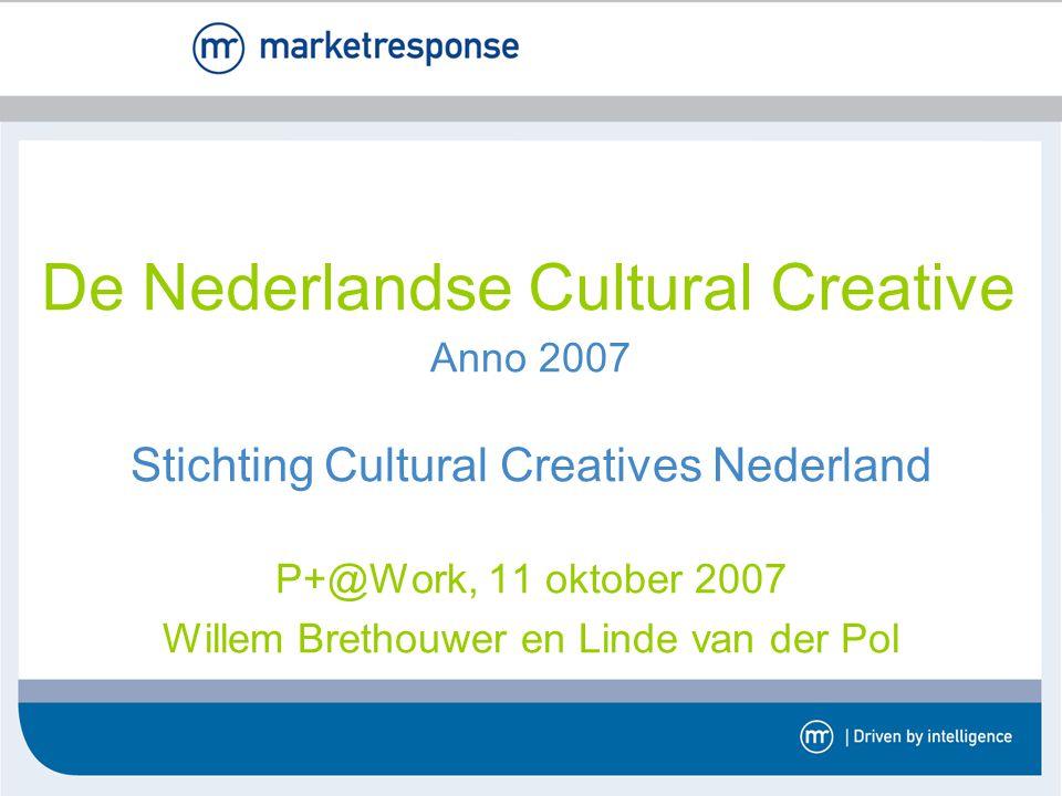 Anno 2007 Stichting Cultural Creatives Nederland P+@Work, 11 oktober 2007 Willem Brethouwer en Linde van der Pol De Nederlandse Cultural Creative