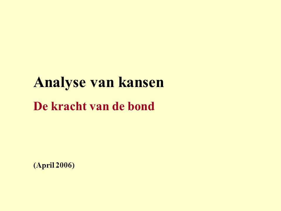 Analyse van kansen De kracht van de bond (April 2006)