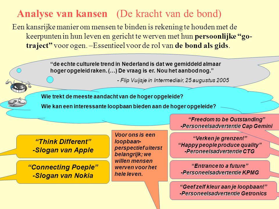 Analyse van kansen (De kracht van de bond) de echte culturele trend in Nederland is dat we gemiddeld almaar hoger opgeleid raken.