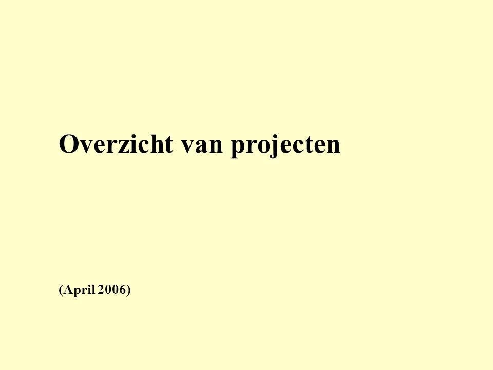 Overzicht van projecten (April 2006)