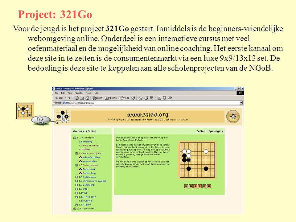 Project: 321Go Voor de jeugd is het project 321Go gestart.