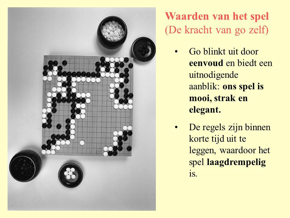 •Go blinkt uit door eenvoud en biedt een uitnodigende aanblik: ons spel is mooi, strak en elegant.