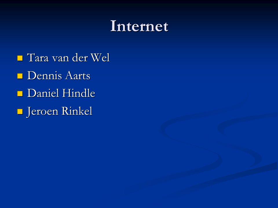 Internet  Tara van der Wel  Dennis Aarts  Daniel Hindle  Jeroen Rinkel