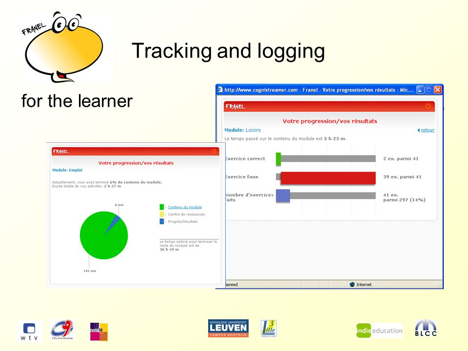 Tracking and logging for the learner