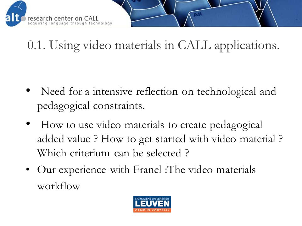  Horizontal exploitation of the video materials  thematically  linguistically scenario PE CG CD LX GR AL PO + AC