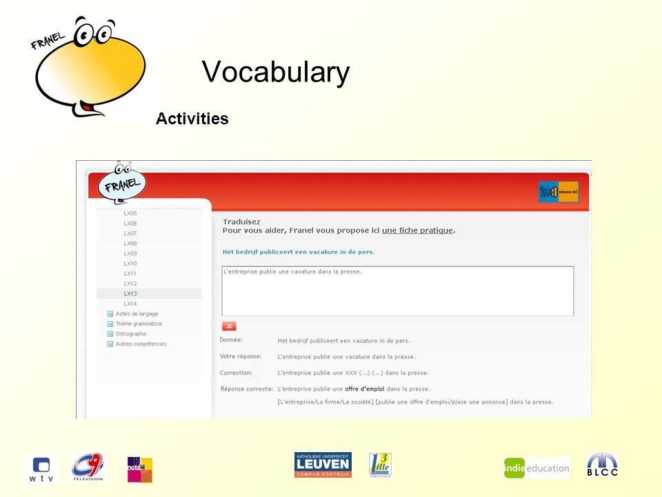 Vocabulary Index cards