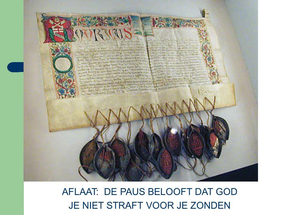 AFLAAT: DE PAUS BELOOFT DAT GOD JE NIET STRAFT VOOR JE ZONDEN